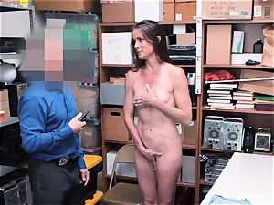 Sofie Marie spilled scrotum deep by naughty mall cop