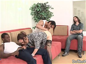 white wife romped by 2 negros