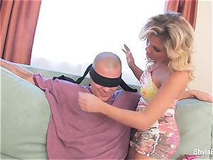 Shyla surprises her beau with a threeway