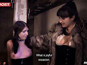 LETSDOEIT - brunette Maid enjoys bdsm tough torment