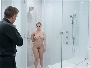 Lena Paul douche pummel with hunky German Mick Blue