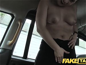 faux taxi euro chick pummeled with rock rock-hard spunk-pump facial