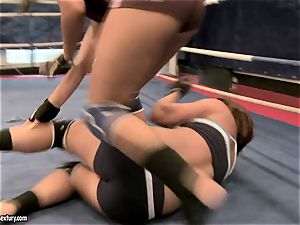 Rihanna Samuel cell with cutie female in the ring