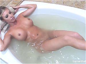 Samantha's voluptuous bath lady on woman wish