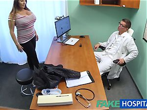 FakeHospital stunner wants jizz all over her thick immense fun bags