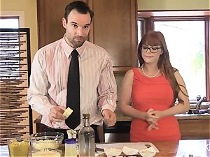 Penny Pax porks in the kitchen