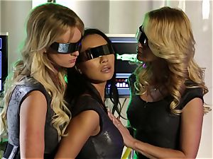 sex Bots Part 1 with Asa Akira Jessica Jame and Stormy Daniels