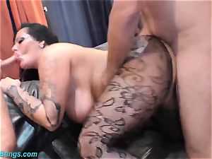 supple gangbang stunner Ashley spunk star