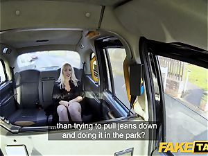 faux cab ash-blonde mummy Victoria Summers penetrated in a taxi