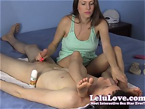 fondling my soles all over his face till he finishes off