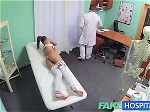 FakeHospital scorching brown-haired Patient comes back longing chisel