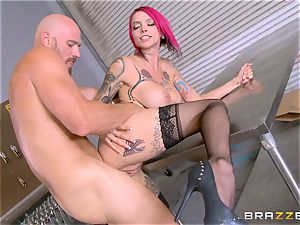 sizzling boss Anna Bell Peaks rides her employees man sausage