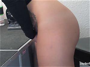 Jayden Jaymes kneads her raw cootchie