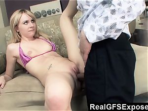 RealGfsExposed Her stepfathers meaty knob