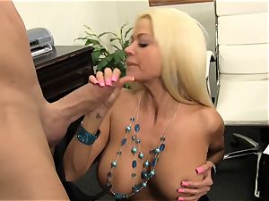 switch roles railing Nikita Von James with ample thick cock
