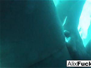 Underwater hidden camera girly-girl fun